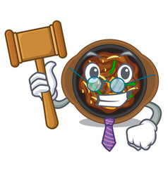 Judge bulgogi isolated with in character vector