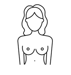 Line breast cancer prevention to medical treatment vector