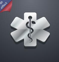 Medicine icon symbol 3D style Trendy modern design vector image