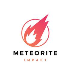 Meteorite impact logo icon vector