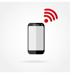 mobile phone with Wi fi icon vector image