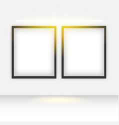 Mockup double frame poster banner design template vector