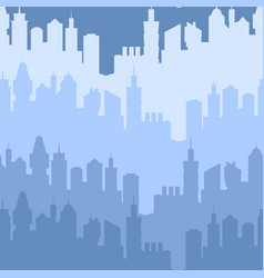Modern city silhouette seamless pattern vector