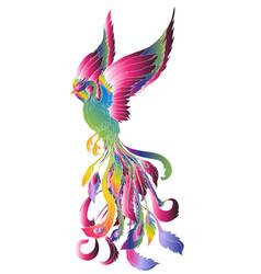 phoenix pastel fire bird vector image