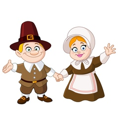 Pilgrim couple vector