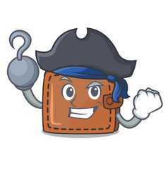 Pirate wallet character cartoon style vector