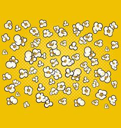 Pop corn background cartoon vector