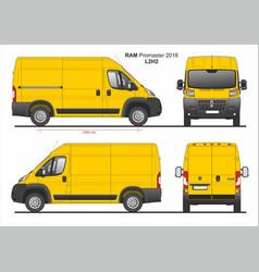 Ram promaster cargo delivery van l2h2 2018 vector