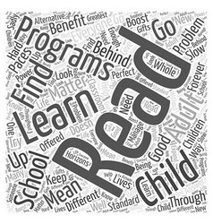 Reading programs Word Cloud Concept vector