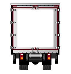 Rear lorry copy space vector