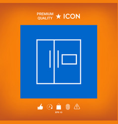 Refrigerator linear icon vector