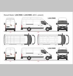 Renault master cargo van mwb l3 rwd 2014-present vector
