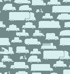 Road transport seamless background repeating vector image