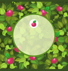 round frame with space for your text decorated vector image