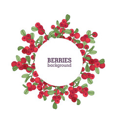 round natural backdrop or wreath made of vector image