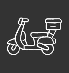 scooter delivery chalk icon motorcycle vector image