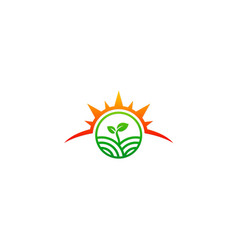 Seed nature landscape organic logo vector
