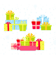 set different colorful gift vector image