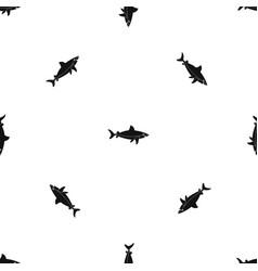 Shark fish pattern seamless black vector