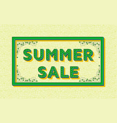 summer sale background template with retro vector image