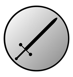 Sword button vector