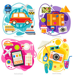 time for travel concept trendy flat vector image
