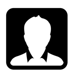 user icon man person symbol profile avatar sign vector image