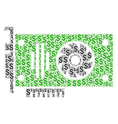 Video gpu card collage of dollar vector