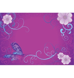 violet butterfly vector image