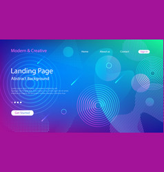 Website landing page template vector
