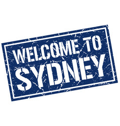 Welcome to sydney stamp vector