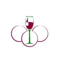 Wine symbol vector