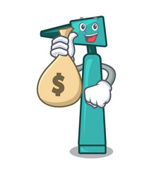 with money bag otoscope character cartoon style vector image