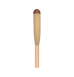 Wood match stick mockup realistic style vector
