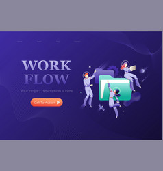 workflow banner template vector image