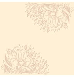 Background with narcissus spring flower drawing vector
