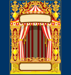 carnival poster template vector image vector image