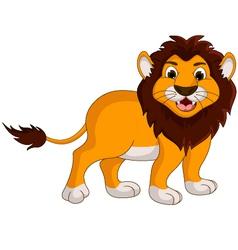 cute lion cartoon smiling vector image