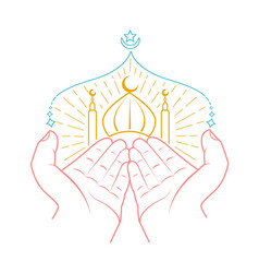 icon of hands praying namaz vector image