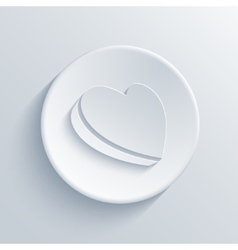 modern light circle icon vector image vector image