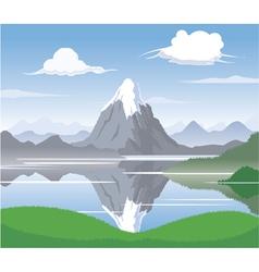 Mountain scape vector