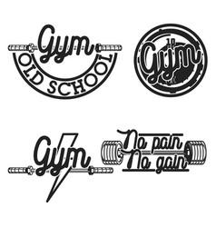 set of vintage gym emblems vector image vector image