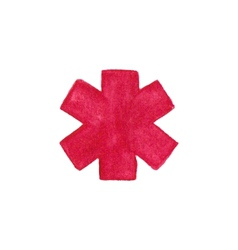 Watercolor medical emergency symbol on the white vector image vector image