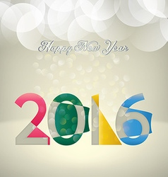 2016 composition vector image vector image