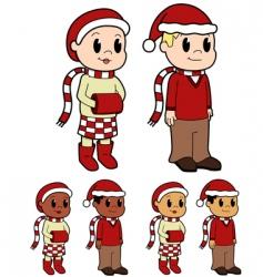 Christmas kids vector image