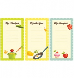 my recipes vector image vector image