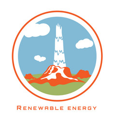 Renewable energy geothermal power vector