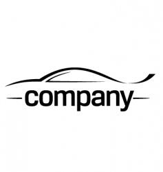 sport car silhouette logo vector image vector image