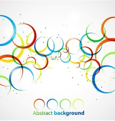 Abstract circle background vector image vector image