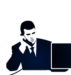 Business and phone call vector image